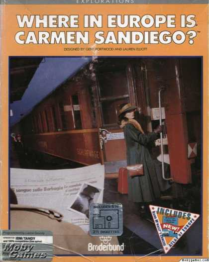 DOS Games - Where in Europe is Carmen Sandiego?