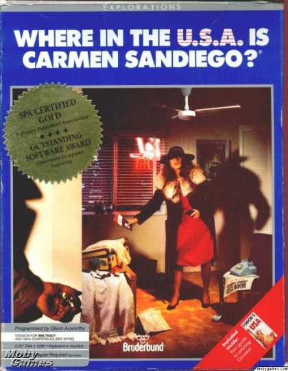 DOS Games - Where in the USA is Carmen Sandiego?