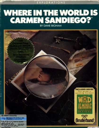 DOS Games - Where in the World is Carmen Sandiego?