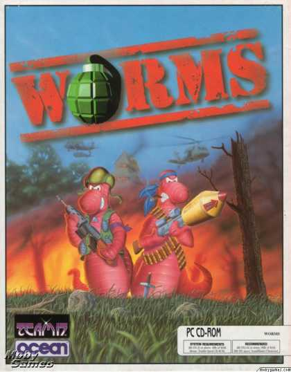 DOS Games - Worms