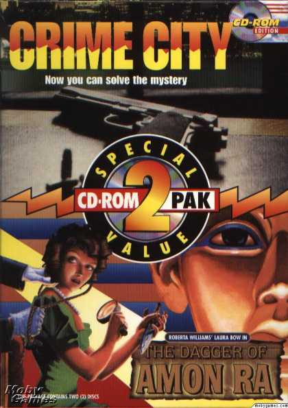 DOS Games - CD-ROM 2 Pack: Crime City and The Dagger of Amon Ra