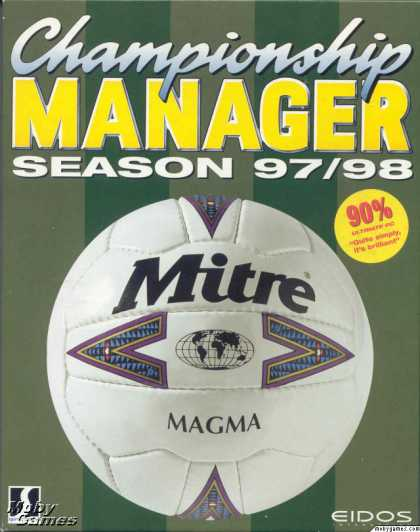 DOS Games - Championship Manager 97/98