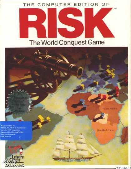 DOS Games - The Computer Edition of Risk: The World Conquest Game