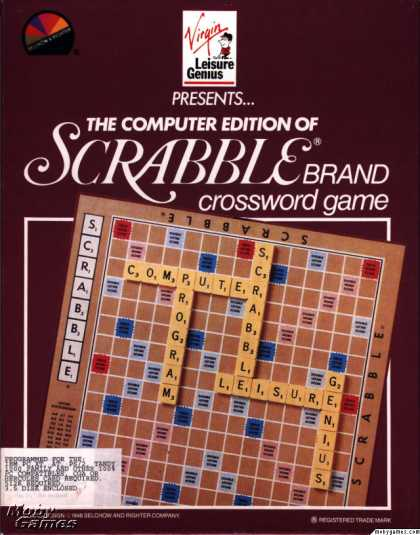 DOS Games - The Computer Edition of Scrabble Brand Crossword Game
