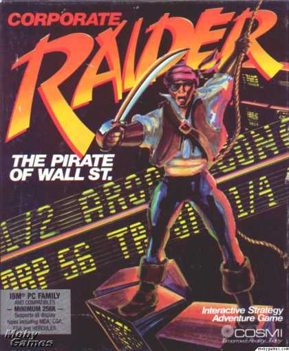 DOS Games - Corporate Raider: The Pirate of Wall St.