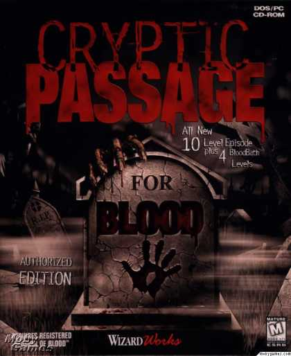 DOS Games - Cryptic Passage for Blood