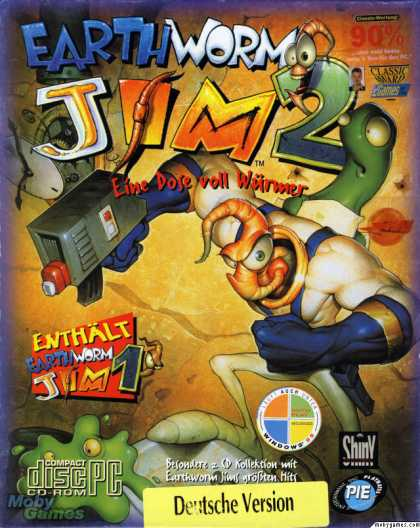 DOS Games - Earthworm Jim 1 & 2: The Whole Can 'O Worms