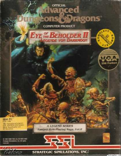 DOS Games - Eye of the Beholder II: The Legend of Darkmoon