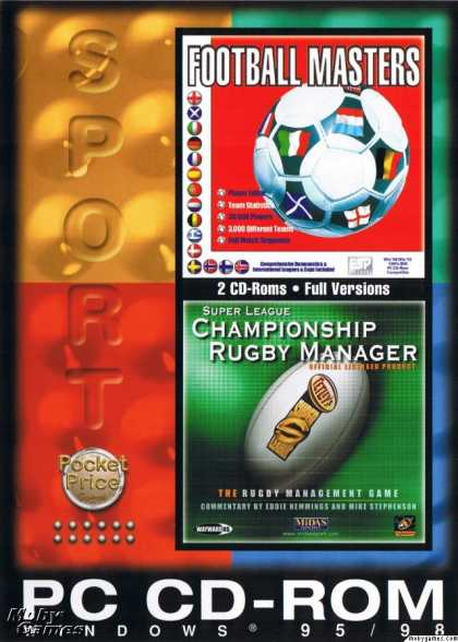 DOS Games - Football Masters + Championship Rugby Manager