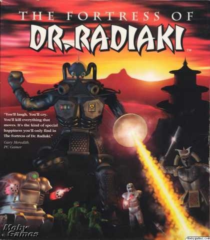 DOS Games - The Fortress of Dr. Radiaki