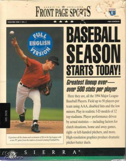 DOS Games - Front Page Sports: Baseball '94