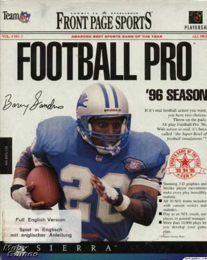 DOS Games - Front Page Sports: Football Pro '96 Season