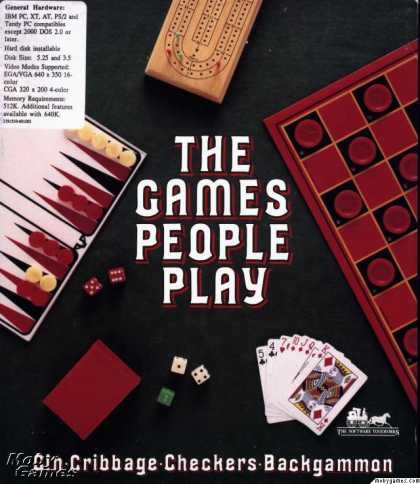 DOS Games - The Games People Play: Gin, Cribbage, Checkers, and Backgammon