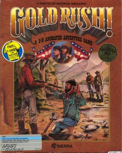 DOS Games - Gold Rush!