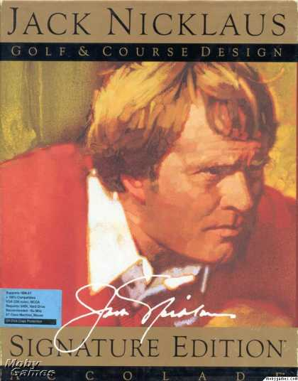 DOS Games - Jack Nicklaus Golf & Course Design: Signature Edition