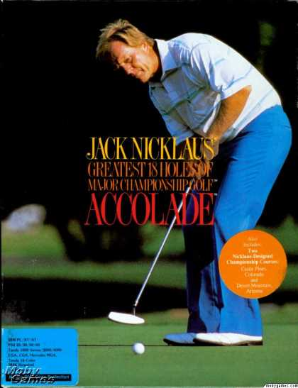 DOS Games - Jack Nicklaus' Greatest 18 Holes of Major Championship Golf