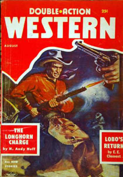 Double-Action Western - 8/1957