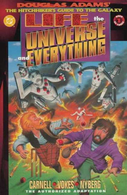 Douglas Adams Books - LIFE THE UNIVERSE & EVERYTHING #1-3 complete sequel to Hitchhiker's Guide To The