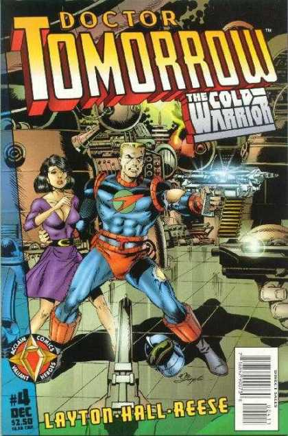 Dr. Tomorrow 4 - The Cold Warrior - Gun - Layton Hall Reese - Acclaim Comics - Machines