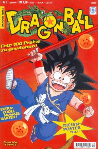 Dragonball Z 1 - Dragon - Stars - Warrior - Tail - Fist