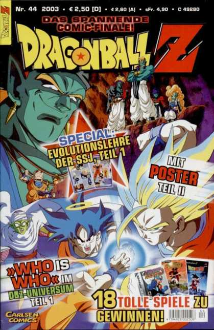 Dragonball Z 30 - Evolutionslehre Der Ssj Teil 1 - Mit Poster Teil Ii - Nr 44 - Carlsen Comics - Who Is Who