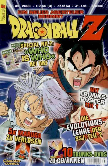 Dragonball Z 31 - Carlsen Comics - Who Is Who - Ein Neues Abenteuer - Open Mouths - Boys