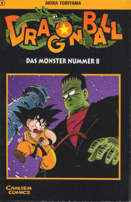 Dragonball 7 - Frankenstein - Castle Tower - Green Skin - Stitched On Forehead - Scary