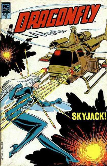 Dragonfly 6 - Dragonfly - Helicopter - Skyjack - Blue Woman - 175 - Bill Black
