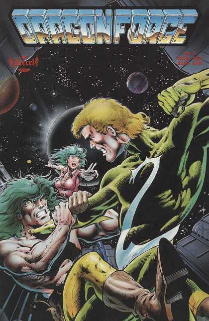 Dragonforce 3 - Green Hair - Outer Space - Planets - Muscles - Dragons