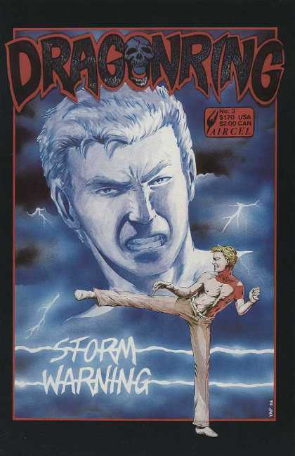 Dragonring 3 - Face - Man - Kick - Lightning - Clouds