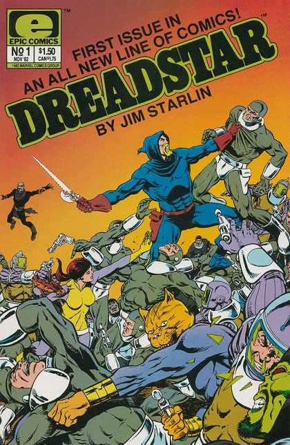 Dreadstar 1 - Epic Comics - First Issue - Jim Starlin - Sword - Gun - Jim Starlin