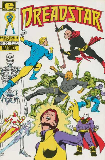 Dreadstar 13 - Epic Comics - Marvel Comics - Fight - Rumble - Good Vs Evil - Jim Starlin