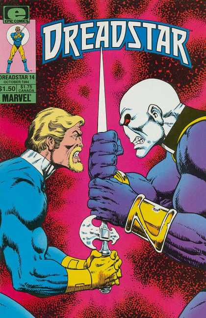 Dreadstar 14 - Sword - Gauntlets - Golden Bracers - Dual - One-on-one - Jim Starlin
