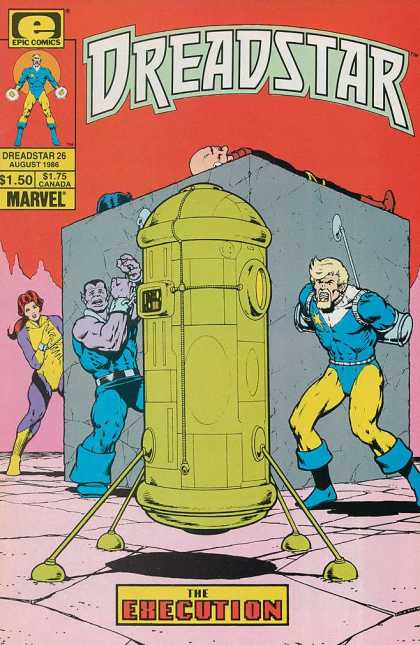 Dreadstar 26 - Bonded - Robot - Execution - Yellow Star - Red Hair - Jim Starlin
