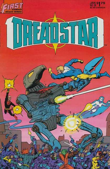 Dreadstar 28 - 1first - 1first Comics - Fight - Robots - Super Heroes - Jim Starlin