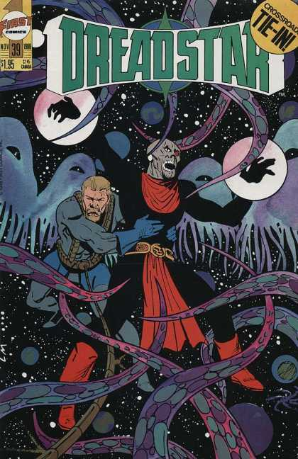 Dreadstar 39 - First Comics - Octopus Legs - Gold Belt - Blonde Hair - Crossroad Tie In