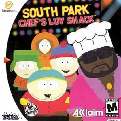 Dreamcast Games - South Park: Chef's Luv Shack