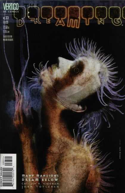 Dreaming 33 - Bloody - Hairy Figure - Profile - Spectral - Vision - Dave McKean