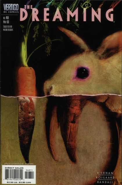 Dreaming 48 - Rabbit - Carrot - Pink Eye - Fangs - Decay - Dave McKean