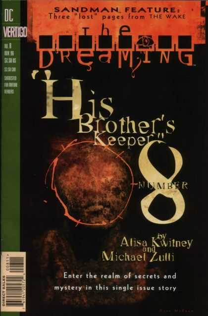 Dreaming 8 - Enter The Realm Of Secrets And Mystery In This Single Issue Story - Sign - Sandman Feature - Michael Zulli - Alisa Kwitney - Dave McKean