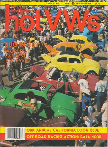 Dune Buggies and Hot VWs - February 1981