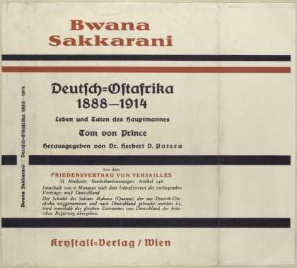 Dust Jackets - Bwana Sakkarani Deutsch-