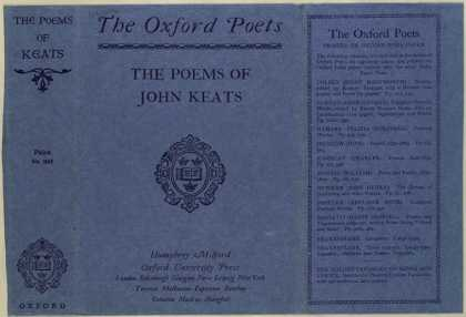 Dust Jackets - The poems of John Keats.