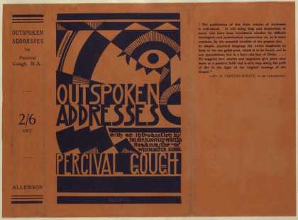 Dust Jackets - Outspoken addresses.