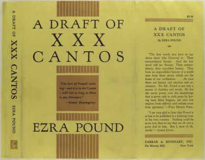 Dust Jackets - A draft of XXX cantos.