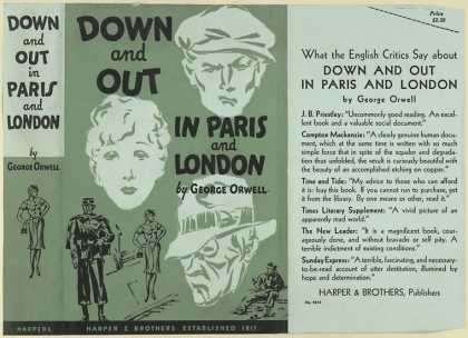 Dust Jackets - Down and out in Paris and