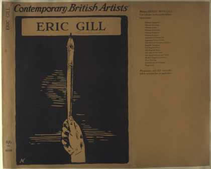 Dust Jackets - Eric Gill. (Series: Conte