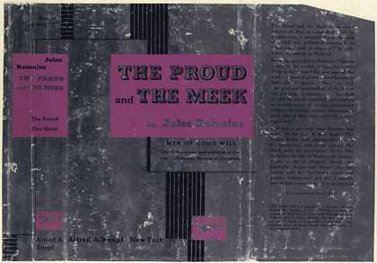 Dust Jackets - The Proud and the Meek. (