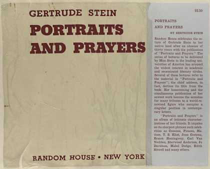Dust Jackets - Portraits and prayers.