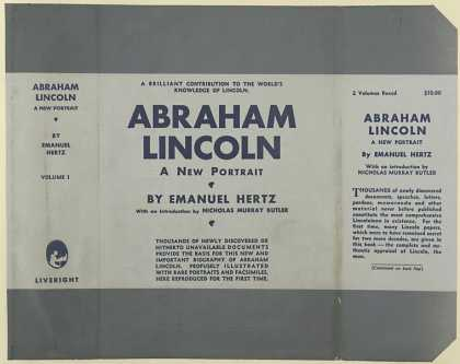 Dust Jackets - Abraham Lincoln, a new po
